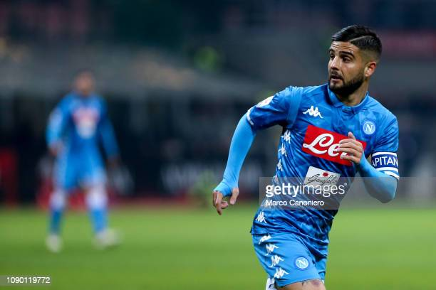 Lorenzo Insigne of Ssc Napoli during the Serie A football match between Ac Milan and Ssc Napoli The match end in a tie 00