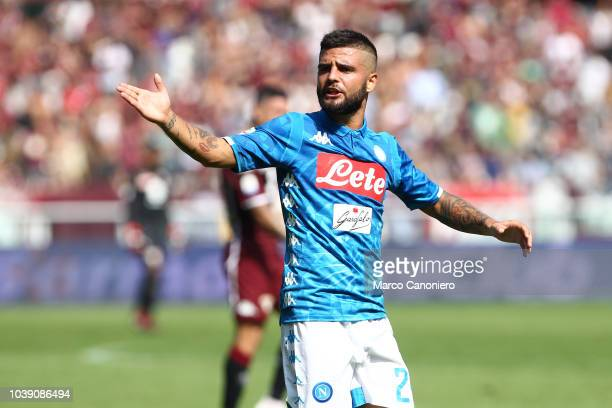 Lorenzo Insigne of Ssc Napoli during the Serie A football match between Torino Fc and Ssc Napoli