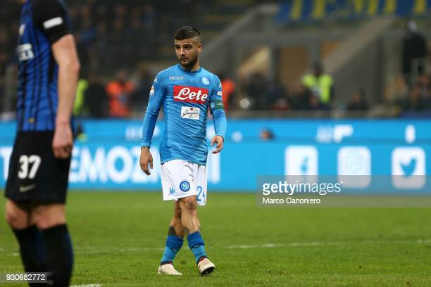 Lorenzo Insigne of Ssc Napoli during the Serie A football match between Fc Internazionale and Ssc Napoli The final score was 00