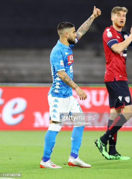 Lorenzo Insigne of SSC Napoli during the Serie A match between SSC Napoli and Cagliari at Stadio San Paolo on May 05 2019 in Naples Italy
