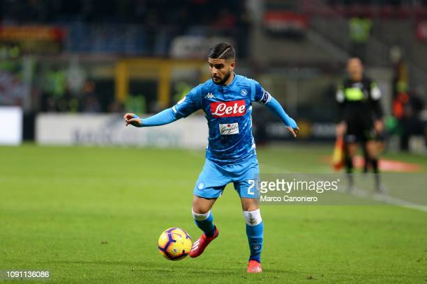Lorenzo Insigne of Ssc Napoli in action during Coppa Italia quarterfinals football match between Ac Milan and Ssc Napoli Ac Milan wins 20 over Ssc...