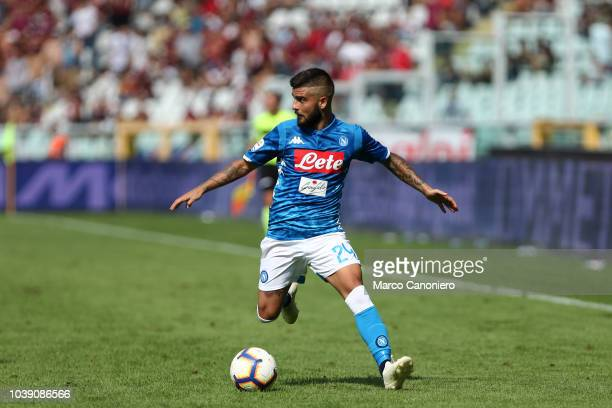 Lorenzo Insigne of Ssc Napoli in action during the Serie A football match between Torino Fc and Ssc Napoli