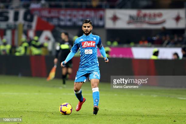 Lorenzo Insigne of Ssc Napoli in action during the Serie A football match between Ac Milan and Ssc Napoli The match end in a tie 00
