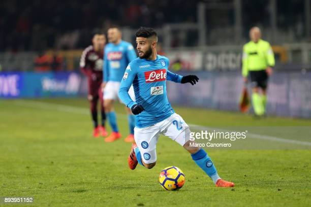 Lorenzo Insigne of Ssc Napoli in action during the Serie A football match between Torino Fc and Ssc Napoli Ssc Napoli wins 31 over Torino Fc