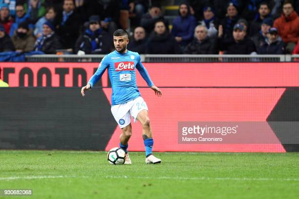 Lorenzo Insigne of Ssc Napoli in action during the Serie A football match between Fc Internazionale and Ssc Napoli The final score was 00