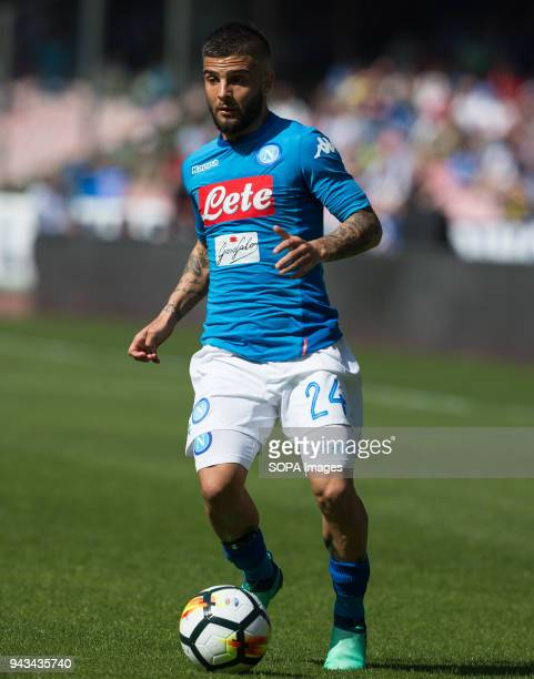 PAOLO NAPLES CAMPANIA ITALY Lorenzo Insigne of SSC Napoli in action during the Serie A football match between SSC Napoli and AC Chievo Verona at San...