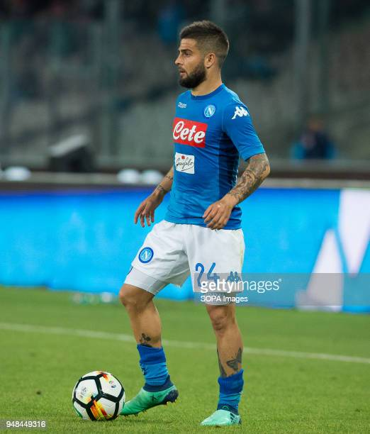 STADIUM NAPLES CAMPANIA ITALY Lorenzo Insigne of SSC Napoli in action during the Serie A football match between SSC Napoli and Udinese Calcio at San...