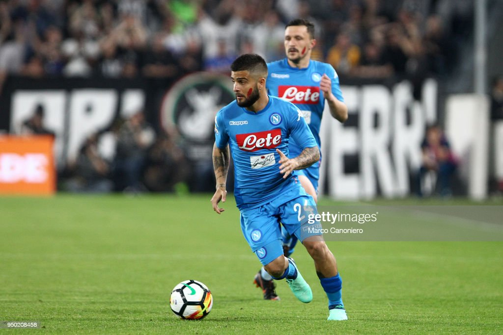 Lorenzo Insigne of Ssc Napoli in action during the Serie A ...