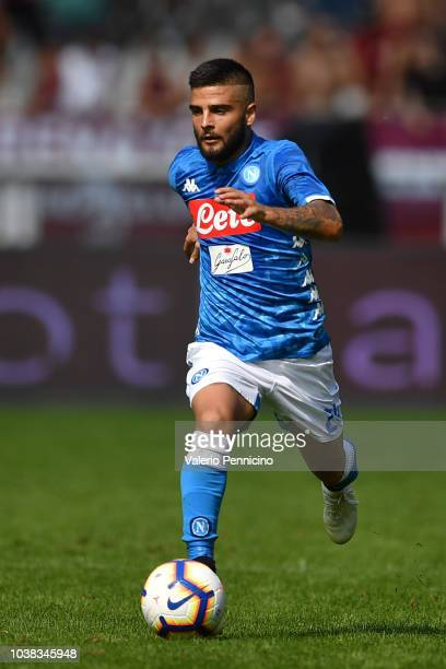 Lorenzo Insigne of SSC Napoli in action during the Serie A match between Torino FC and SSC Napoli at Stadio Olimpico di Torino on September 23 2018...