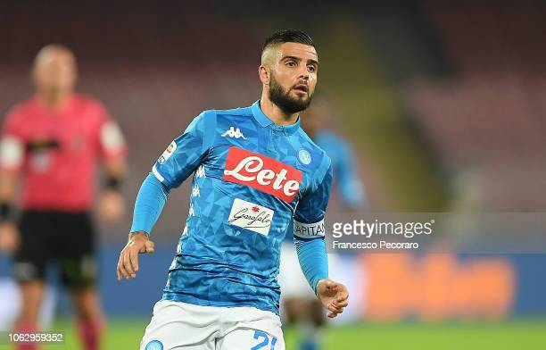 Lorenzo Insigne of SSC Napoli in action during the Serie A match between SSC Napoli and Empoli at Stadio San Paolo on November 2 2018 in Naples Italy
