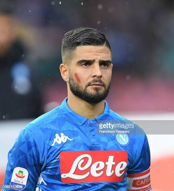 Lorenzo Insigne of SSC Napoli in action during the Serie A match between SSC Napoli and Chievo Verona at Stadio San Paolo on November 25 2018 in...