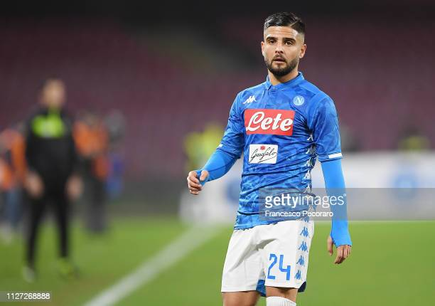 Lorenzo Insigne of SSC Napoli in action during the Serie A match between SSC Napoli and UC Sampdoria at Stadio San Paolo on February 2 2019 in Naples...