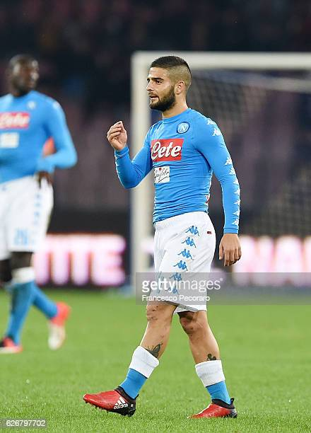 Lorenzo Insigne of SSC Napoli in action during the Serie A match between SSC Napoli and US Sassuolo November 28 2016 in Naples Italy