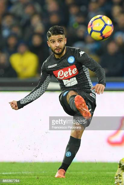Lorenzo Insigne of SSC Napoli in action during the Serie A match between SSC Napoli and Juventus at Stadio San Paolo on December 1 2017 in Naples...