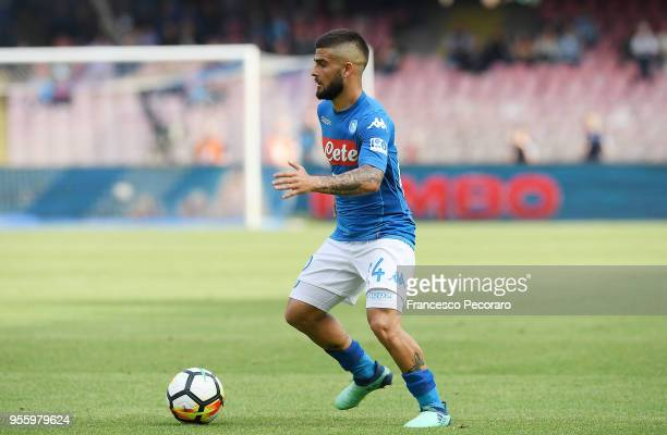 Lorenzo Insigne of SSC Napoli in action during the serie A match between SSC Napoli and Torino FC at Stadio San Paolo on May 6 2018 in Naples Italy