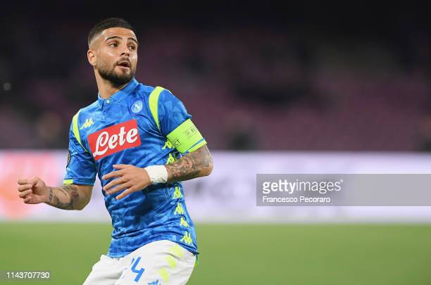 Lorenzo Insigne of SSC Napoli in action during the UEFA Europa League Quarter Final Second Leg match between SSC Napoli and Arsenal at Stadio San...