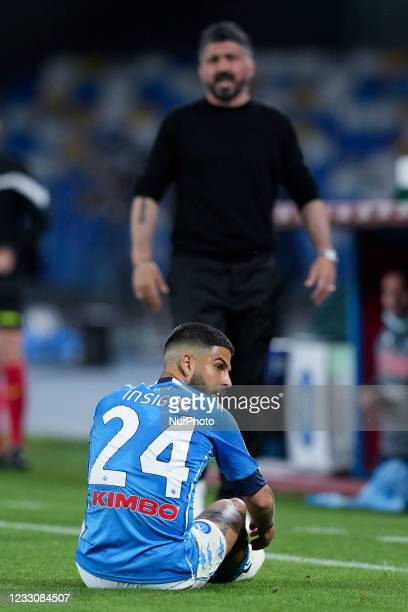 Lorenzo Insigne of SSC Napoli looks dejected during the Serie A match between SSC Napoli and Hellas Verona at Stadio Diego Armando Maradona, Naples,...