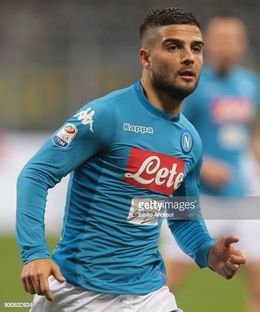 Lorenzo Insigne of SSC Napoli looks on during the serie A match between FC Internazionale and SSC Napoli at Stadio Giuseppe Meazza on March 11 2018...