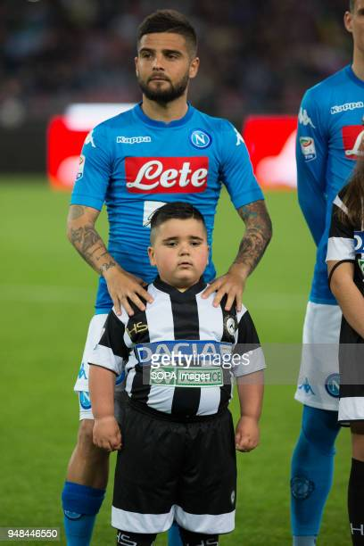 STADIUM NAPLES CAMPANIA ITALY Lorenzo Insigne of SSC Napoli seen before the Serie A football match between SSC Napoli and Udinese Calcio at San Paolo...