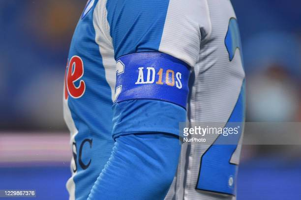 Lorenzo Insigne of SSC Napoli with captain armband during the Serie A match between SSC Napoli and AC Milan at Stadio San Paolo Naples Italy on 29...