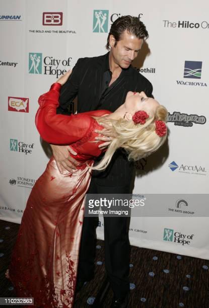 Lorenzo Lamas and Barbara Moore during City of Hope 2005 Award of Hope Gala - Inside at Beverly Hilton Hotel in Beverly Hills, California, United...