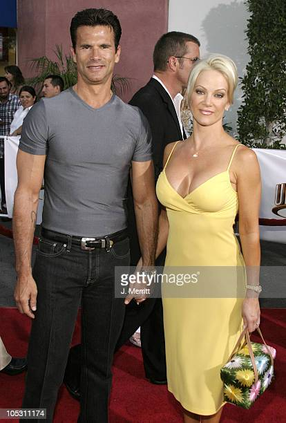 Lorenzo Lamas and Barbara Moore during Van Helsing Los Angeles Premiere at Universal Amphitheatre in Universal City California United States