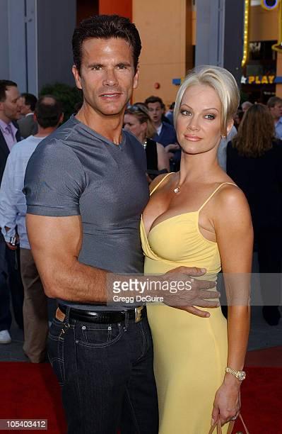 "Lorenzo Lamas and Barbara Moore during ""Van Helsing"" Los Angeles Premiere - Arrivals at Universal Amphitheatre in Universal City, California, United..."