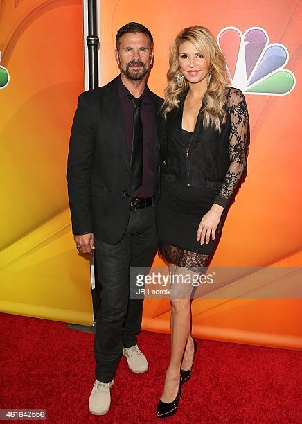 Lorenzo Lamas and Brandi Glanville attend the NBCUniversal 2015 Press Tour at the Langham Huntington Hotel on January 16 2015 in Pasadena California