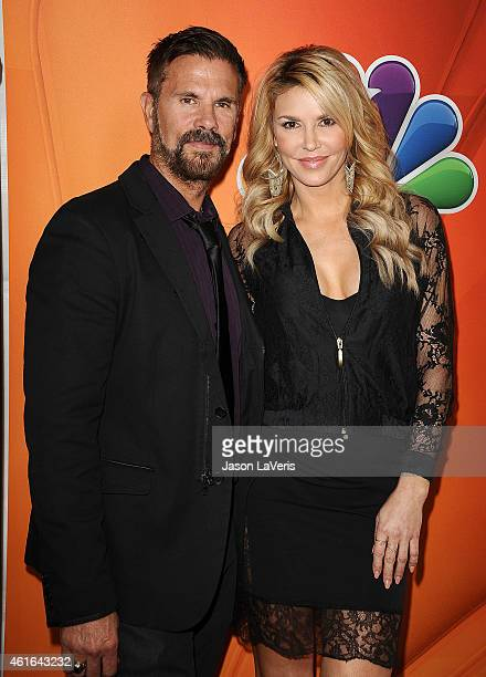 Lorenzo Lamas and Brandi Glanville attend the NBCUniversal 2015 press tour at The Langham Huntington Hotel and Spa on January 16 2015 in Pasadena...