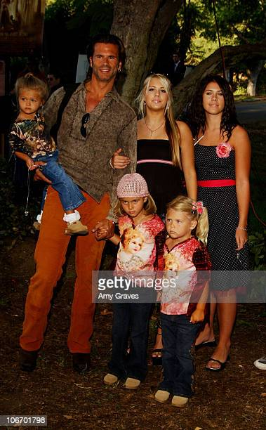 Lorenzo Lamas and daughters Isabella Alexandra Victoria Shane and friend Dakota