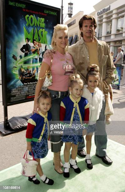 Lorenzo Lamas and family during Son of the Mask Los Angeles Premiere Green Carpet at The Grove in Los Angeles California United States