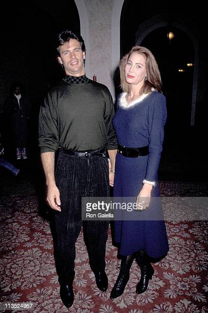 Lorenzo Lamas and Kathleen Kinmont during Celebrity Sports Invitational January 10 1991 at The Fairmont Banff Springs Resort in Banff Canada
