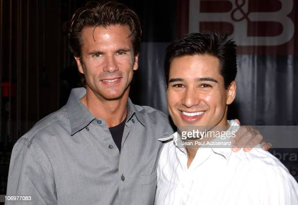 Lorenzo Lamas and Mario Lopez during The Bold and The Beautiful Celebrates Five Years of SAP Technology on the CBS Television Network at CBS...