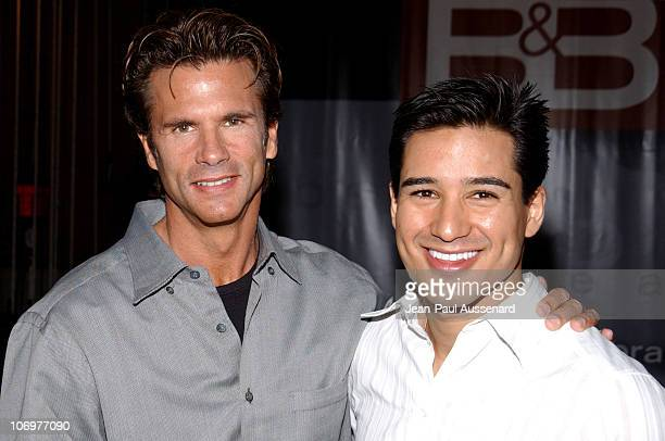 Lorenzo Lamas and Mario Lopez during 'The Bold and The Beautiful' Celebrates Five Years of SAP Technology on the CBS Television Network at CBS...