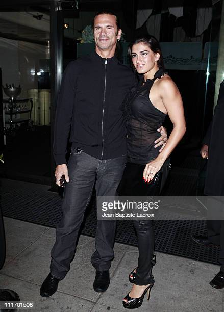 Lorenzo Lamas and Shauna celebrate their engagement at Mr. Chow on February 21, 2010 in Los Angeles, California.