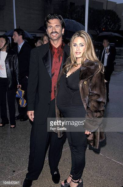 Lorenzo Lamas and Shauna Sands during The 1999 ALMA Awards at Pasadena Civic Auditorium in Pasadena California United States