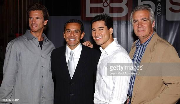Lorenzo Lamas, Antonio Villaraigosa, Mario Lopez and John McCook