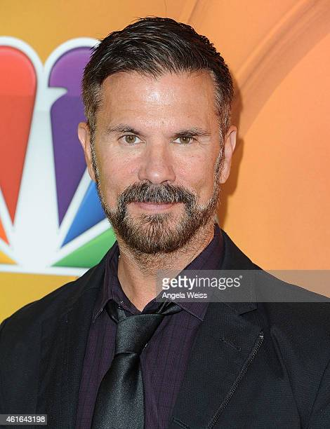 Lorenzo Lamas arrives at NBCUniversal's 2015 Winter TCA Tour Day 2 at The Langham Huntington Hotel and Spa on January 16 2015 in Pasadena California