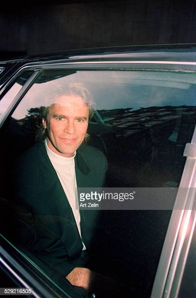 Lorenzo Lamas in a limousine circa 1990 New York