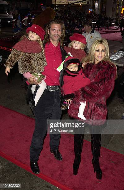Lorenzo Lamas Shauna Sand and Daughters during 70th Hollywood Christmas Parade at Hollywood Boulevard in Hollywood California United States