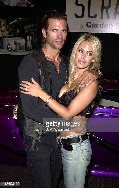 Lorenzo Lamas Shauna Sand during Indian Motorcycles Centennial Ride at Petersen Automobile Museum in Los Angeles California United States