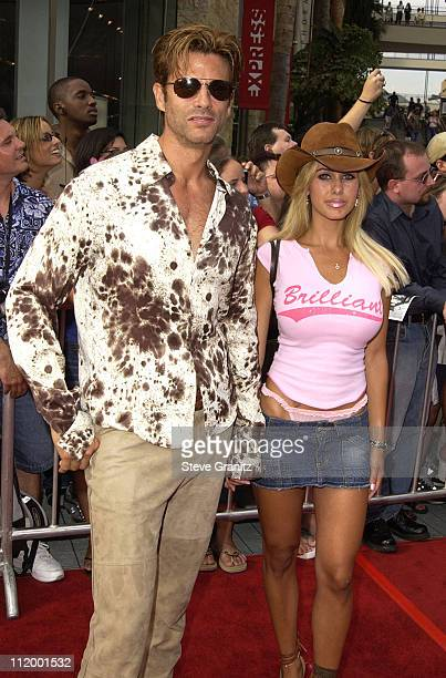 Lorenzo Lamas wife Shauna Sand during American Idol Season 1 Finale Results Show Arrivals at Kodak Theater in Hollywood California United States