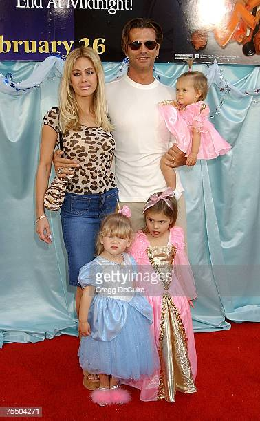 Lorenzo Lamas wife Shauna Sand kids Victoria Alexandra Isabella at the El Capitan Theatre in Hollywood California