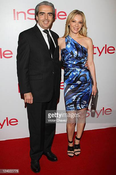 Lorenzo Lazo and his wife actress Edith Gonzalez attend the InStyle Magazine Mexico's 5th Anniversary at Teatro Metropolitan on September 7 2011 in...