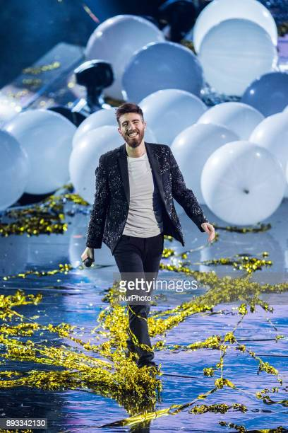 Lorenzo Licitra during italian final X Factor 11 on December 14 2017 at Mediolanum Forum in Assago Milan Italy Lorenzo Licitra is the winner of X...