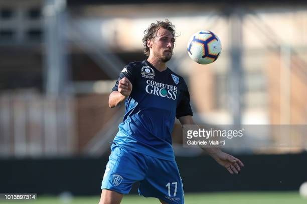 Lorenzo Lollo of Empoli FC in action during the preseason frienldy match between Empoli FC and Empoli FC U19 on August 9 2018 in Empoli Italy