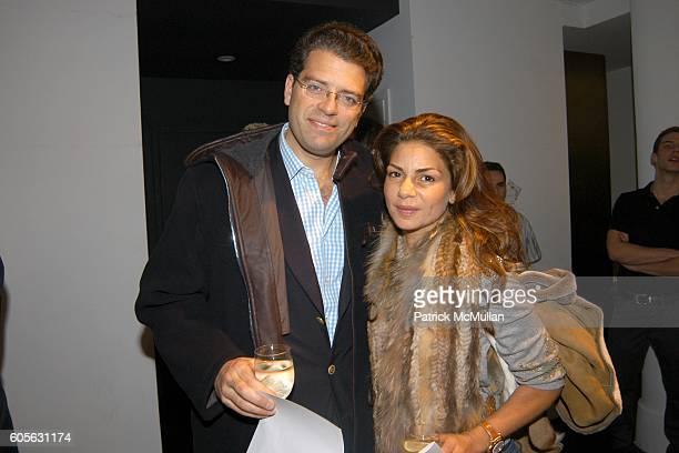 Lorenzo Lorenzotti and Eva Lorenzotti attend DAVID CHU Mens Fashion Presentation at David Chu Studio on February 4 2006 in New York
