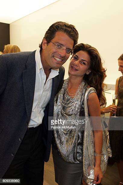 Lorenzo Lorenzotti and Eva Lorenzotti attend IRIS the European Luxury Shoe Boutique Opens In New York City to Benefit YOUNG FRIENDS OF SAVE VENICE at...