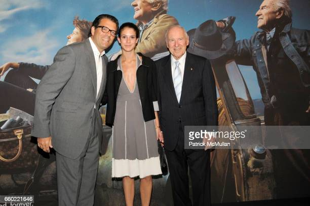 Lorenzo Lorenzotti Lucrezia Moncada and Jim Lovell attend LOUIS VUITTON 40th Anniversary of the Lunar Landing Tribute Event at Rose Center for Earth...
