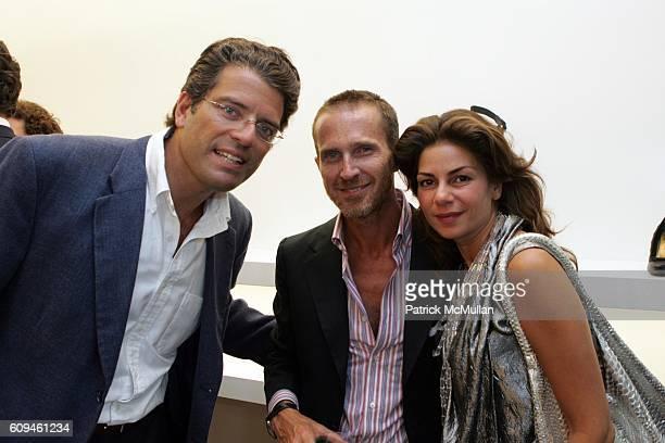Lorenzo Lorenzotti Niccolo Carpani Glisenti and Eva Lorenzotti attend IRIS the European Luxury Shoe Boutique Opens In New York City to Benefit YOUNG...